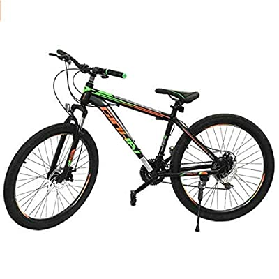 Shlia Multiple Colors 21 Speed Gears 26 Inch Mountain Bike Outdoor Sports Road Bike Suitable for Men and Women Outdoor Riding, US Stock