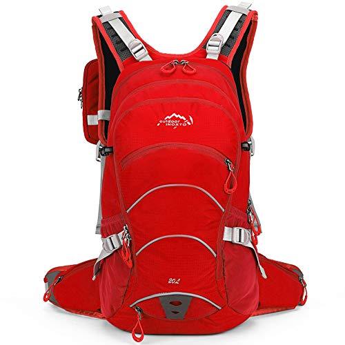 Lixada Cycling Backpack 20L Waterproof Bike Backpack with Helmet Net for Running Cycling Hiking Biking Camping Men Women