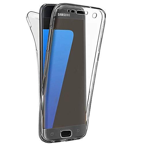 e-phoria Caja de 360 Grados Compatible con Samsung Galaxy J7 Prime   Claro   Protección