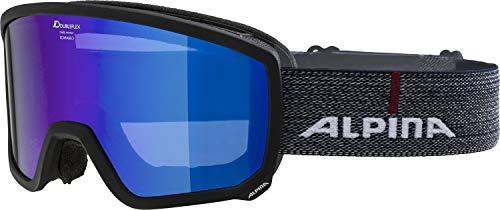ALPINA Unisex– Erwachsene Scarabeo MM Skibrille, matt schwarz, One Size