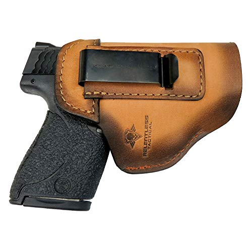1. Relentless Tactical The Defender Leather IWB Holster - Made in USA