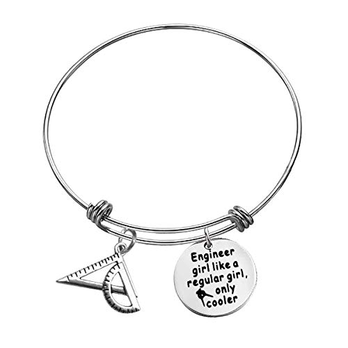 Funny Engineer Gift for Her Architect Bracelet Architecture Gift Birthday Gift Bangle for Architecture Engineering Student Gift Mechanical Engineer Gift Engineering School Graduation Gift for Friend