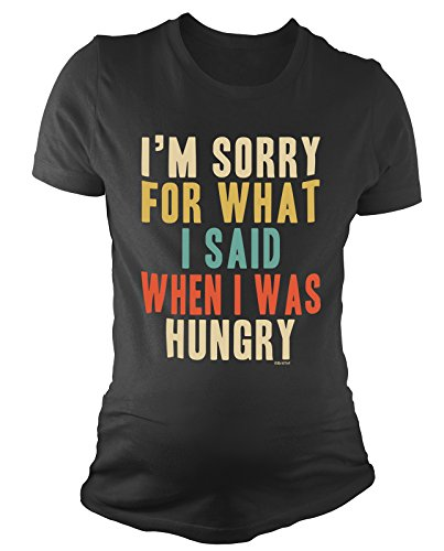 BritTot T-Shirt de maternité pour Dames Im Sorry for What i Said When i Was Hungry Cadeau de Grossesse by