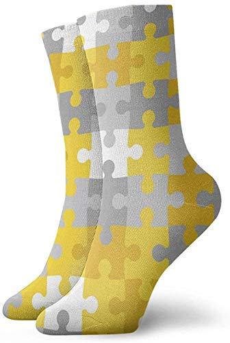 Athletic/Sport Sock,Casual Socks,Compression Socks,Crew Socks,Autism Awareness Puzzle Piece. Moisture Control Running Socks Durable Breathable Training Socks