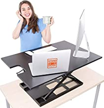 X-Elite Pro XL Standing Desk Converter | Instantly Convert Any Surface to a Stand up Desk | Extra Large Sit to Stand Desk Converter | Easily Fits 2 Monitors (36 inches | Black)