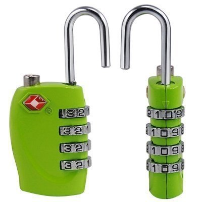2 x sicurezza lucchetto a combinazione – 4 cifre combinazione da viaggio valigetta – borsa da viaggio – Bagaglio Lucchetto TSA – Lucchetto (VERDE) – GARANZIA A VITA