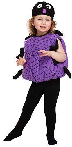 Fancy Me Mädchen Junge Kleinkind Spinne Tier Mini Biest Insekten Halloween Kostüm Kleid Outfit 3 Jahre