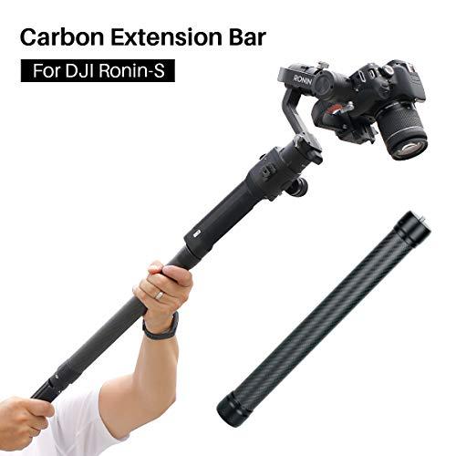 """Extensión de fibra de carbono Pole Stick 1/4 '' 3/8 """"Barra de estabilización de la banda de rodadura Monopod para DJI Ronin S Moza Air 2 Zhiyun Crane 2 Video Gooting Accesorios"""
