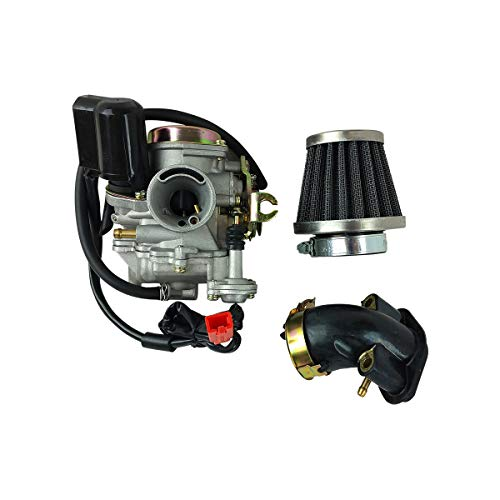 Carburetor 4-Stroke Carb Kit Air Filter Intake Manifold For GY6 49cc 50cc 4 Stroke Moped scooter Sunl Roketa TaoTao