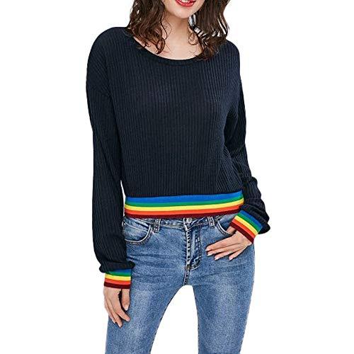 Preisvergleich Produktbild Pullover Timogee Damen Sweatshirts Kurz warm weich Herbst Langarmshirts Strand T-shirt sport Mädchen bluse mode tops