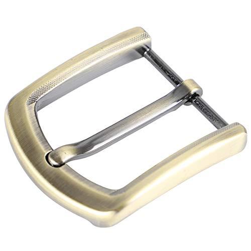 McFanBe 1,5 Pollici (38-40 mm) Fibbia della Cintura Ricambio Quadrata a un Polo per Uomo Cintura da Donna (Bronzo01)