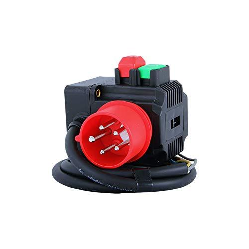 TRIPUS Schalter-Stecker-Kombination 400 V - Ein-Aus-Taste - 1 m Kabel - Phasenwender/Sicherheitsschalter - Nullspannungsschalter - Motorstarter - Geräteschalter - Schalter - Kreissäge