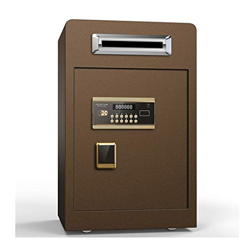 KDOAE Cajas Fuertes Depósito de Seguridad de Acero Delantero del Teclado Digital Carga de Correo fianza en Efectivo Bóveda Drop Box Oficina,Hogar,Hotel (Color, Size : 42X38X70cm)