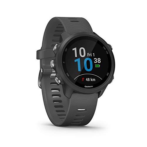 Garmin Forerunner 245 GPS Running Smartwatch with Advanced Training Features - Grey (Renewed)