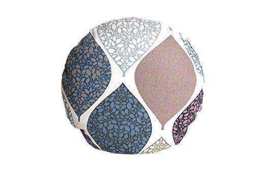 """beties """"Momente"""" Kissenhülle rund ca. 50 cm Ø Kissenbezug in interessanter Größenauswahl hochwertig & angenehm 100% Baumwolle Farbe (Hortensie)"""