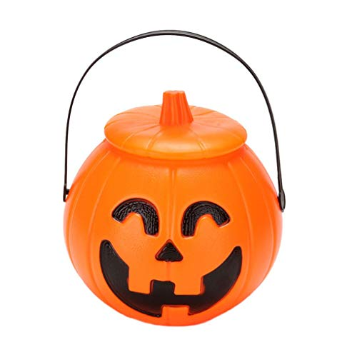 Beaums Trick or Treat Halloween Festival Gift Jar, Festival Pumpkin Shaped Candy Toy Holder Gift Jar Cubos con Tapa