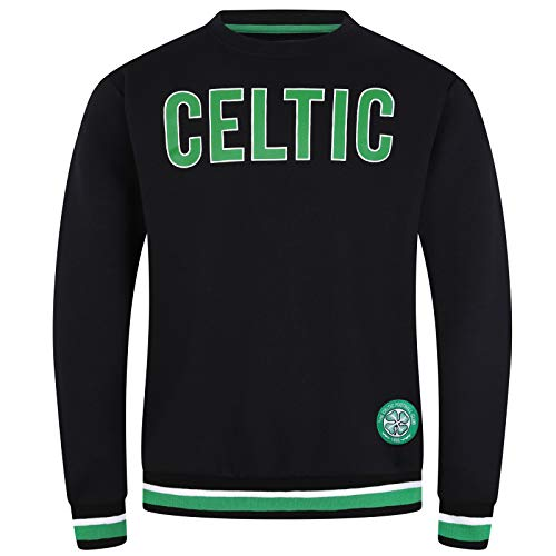 Celtic FC Official Soccer Gift Mens Crest Sweatshirt Black XXL