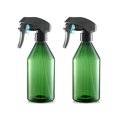N/F Dzmuero Botella de Spray Vacías Plástico,2pcs Botellas de Spray,Spray Pulverizador Agua de Gatillo,Bote Spray Pulverizador para Plantaspara Plantas, Lejía, Limpieza, Jardinería y Cocina(Verde)