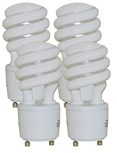 13 Watt Mini Spiral - GU24 Base - (60W Equivalent) CFL Light Bulb - 2700K Warm White - 4pack