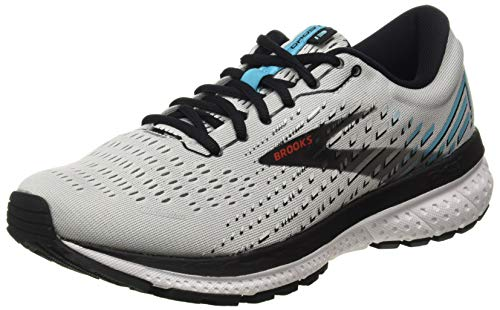 Brooks Herren Ghost 13 Laufschuh, Grey/Black/Capri, 44 EU