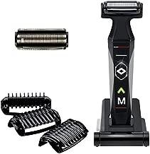 MANGROOMER 2.0 Professional Body Groomer, Ball Groomer & Body Trimmer With Propivot Flexing Head, 3 trimmer Combs, Wet/ Dry & A Free Bonus Foil!, Black
