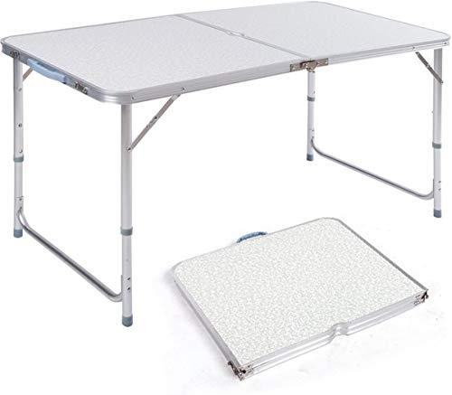 BPT Mesa de camping de aluminio para jardín, 3 niveles, altura regulable,...