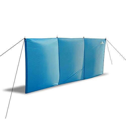 outdoorer Strand-Windschutz Aeolus II, 3m x 1,3m inkl. Sandheringe, UV 60, leicht, kleines Packmaß - idealer Sichtschutz/Windschutz für Strand und Garten