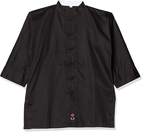 M.A.R International Kung Fu Uniform Gi Suit Outfit Clothing Costume Gear Martial Arts Wu Shu Wing Chun Tai Chi Cotton Fabric Black 180cm
