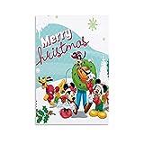 Dragón Vines Mickey Min-nie Mouse, Pasar Navidad Juntos Pintura de la pared Niñas Salón 40 x 60 cm