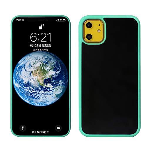 Cekell Pluto Funda AntiGravity Teléfono Funda Compatible con iPhone 11 (6,1 pulgadas) 11Pro (5,8 pulgadas) 11Pro Max (6,5 pulgadas) Nano Suction Magic Mobile Case (Iphone 11, Verde)