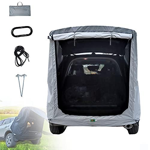 Carpa Extensión Trasera para Automóvil, Carpa Prueba Lluvia con Sombrilla con Fácil Instalación, Tela Impermeable 2000mm para SUV, Hatchback, Minivan, Sedan, Camping,XL