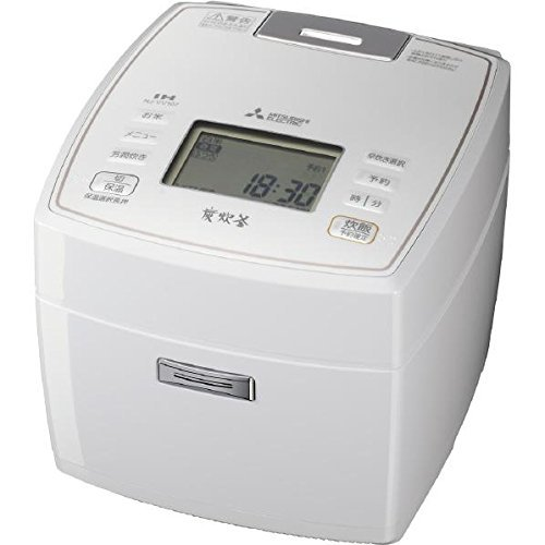 三菱電機 IHジャー炊飯器 備長炭炭炊釜 5.5合炊き ピュアホワイト NJ-VV107-W