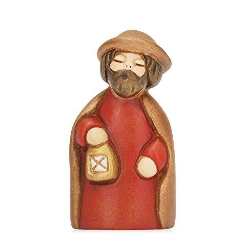 THUN® - San Giuseppe - Versione Rossa - Statuine Presepe Classico - Ceramica - I Classici