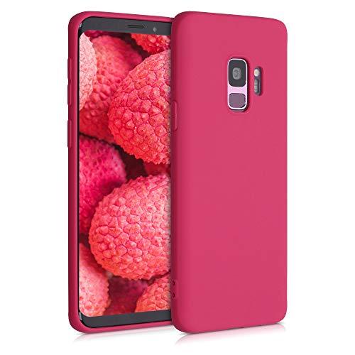 kwmobile Cover Compatibile con Samsung Galaxy S9 - Cover Custodia in Silicone TPU - Backcover Protezione Posteriore - Rosso Melograno