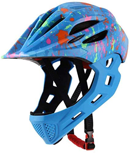 DIMPLEYA Bicycle Helmetbike Helmet Adult Bike Helmet Muddyfox Led Mountain MTB Bicycle Protection Detachable Face Road Cycling Kids Bike Full Helmet,e,s 42-52cm