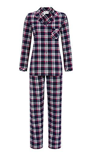 Ringella Damen Pyjama kariert Night 48 9517203, Night, 48