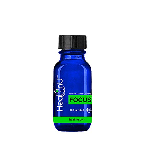 Healinu Focus - Focus and Concentration Essential Oil Blend...