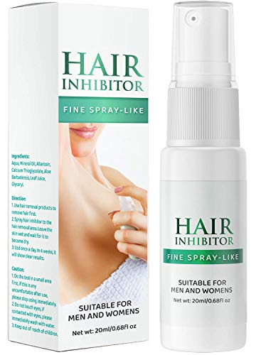 Nopunzel Hair Inhibitor- Hair Stop Growth Spray - Natural Ingredient to Inhibit and Reduce to Stop Hair Growth - Safe for Face, Arm, Leg, Armpit Use - Smooth Your Skin