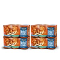 Mixed canned selection of flavours in jelly including; Haddock, Trout and Ocean Fish (9.6kg total - 24 cans) Grain and Gluten free with Vitamin D and minerals for healthy teeth and bones Made with natural ingredients - No artificial flavours, colours...