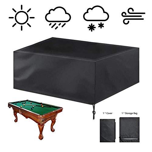 AHAQ Billardtischabdeckung, vollständig geschützt, wasserdicht, Polyesterfasergewebe, geeignet für Snooker-Billardtisch, rechteckiger Esstisch,L