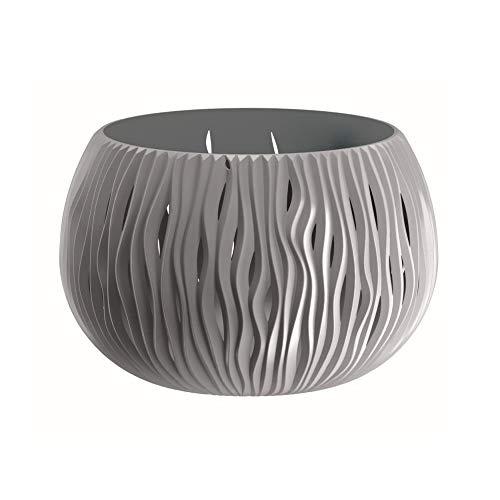 Prosperplast Bowl Sandy de plástico con depósito en Color Gris Piedra, 16,1 (Alto) (Ancho) x 23,8...