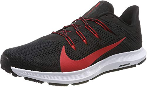 Nike Quest 2, Zapatillas de Running para Hombre, Negro (Black/Univ Red/White 001), 45 EU
