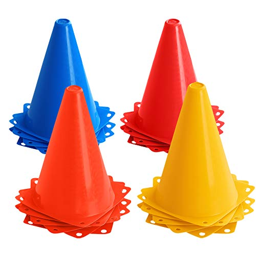 JBM 7-inch Training Cones Sports Cones Traffic Cones Sport Training Cones