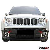 Cornice per faro fendinebbia in acciaio inox, per Jeep Renegade, 2pezzi