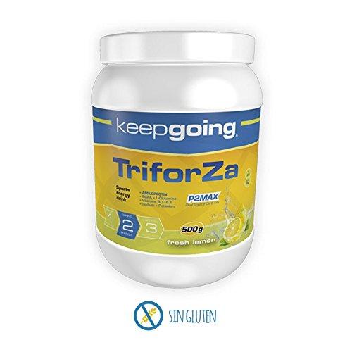 Keepgoing TriforZa Energy · Bebida energética · Bote de 500g. Fresh Lemon.