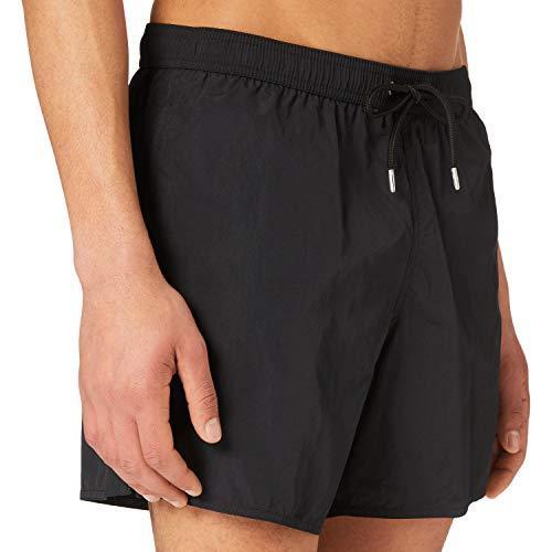 Emporio Armani Swimwear Boxer Embroidery Logo Costume da Bagno, Black, 46 Uomo