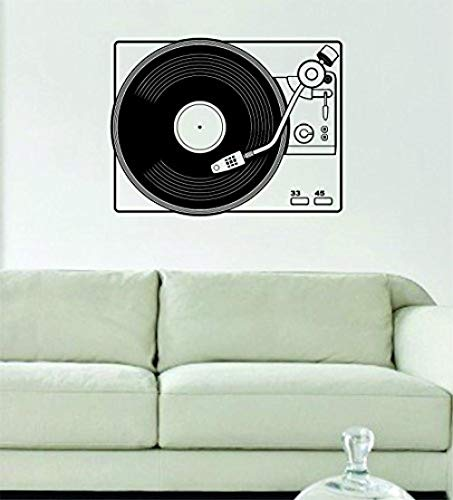 Warmlinan Wall Sticker Dj Turntable Version Decal Sticker Wall Scratch Music Teen Boy Girl Cool Hip Hop Techno