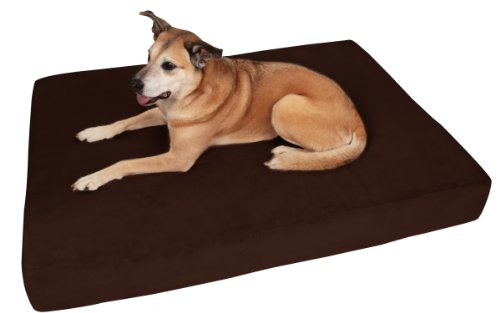 Big Barker 7' Pillow Top Orthopedic Dog Bed - Giant Size - 60 X 48 X 7 Inches - Chocolate - for Large and Extra Large Breed Dogs (Sleek Edition)