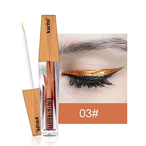 Qianren Shimmer Colorido Delineador Líquido Larga duración Diamond Shining Glitter Liquid Eyeliner Stick