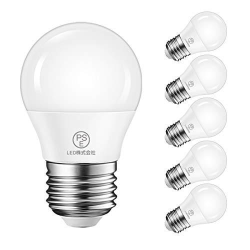 LED電球 E26口金 40W形相当 470LM 4.5W 昼白色 5000K LEDランプ 広配光タイプ 高輝度 長寿命 省エネ PSE認証 3年安心保証 6個入 調光器非対応